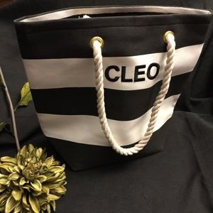 Cleo Bag-Stripes with Rope Handles